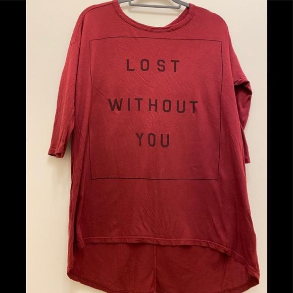 SUNDRY. Tunic T-shirt